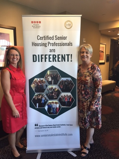 Nicki Buckelew, CEO of the Seniors Real Estate Institute and Virginia Lazenby, Certified Senior Housing Professional, of the Legacy Conference advisory team