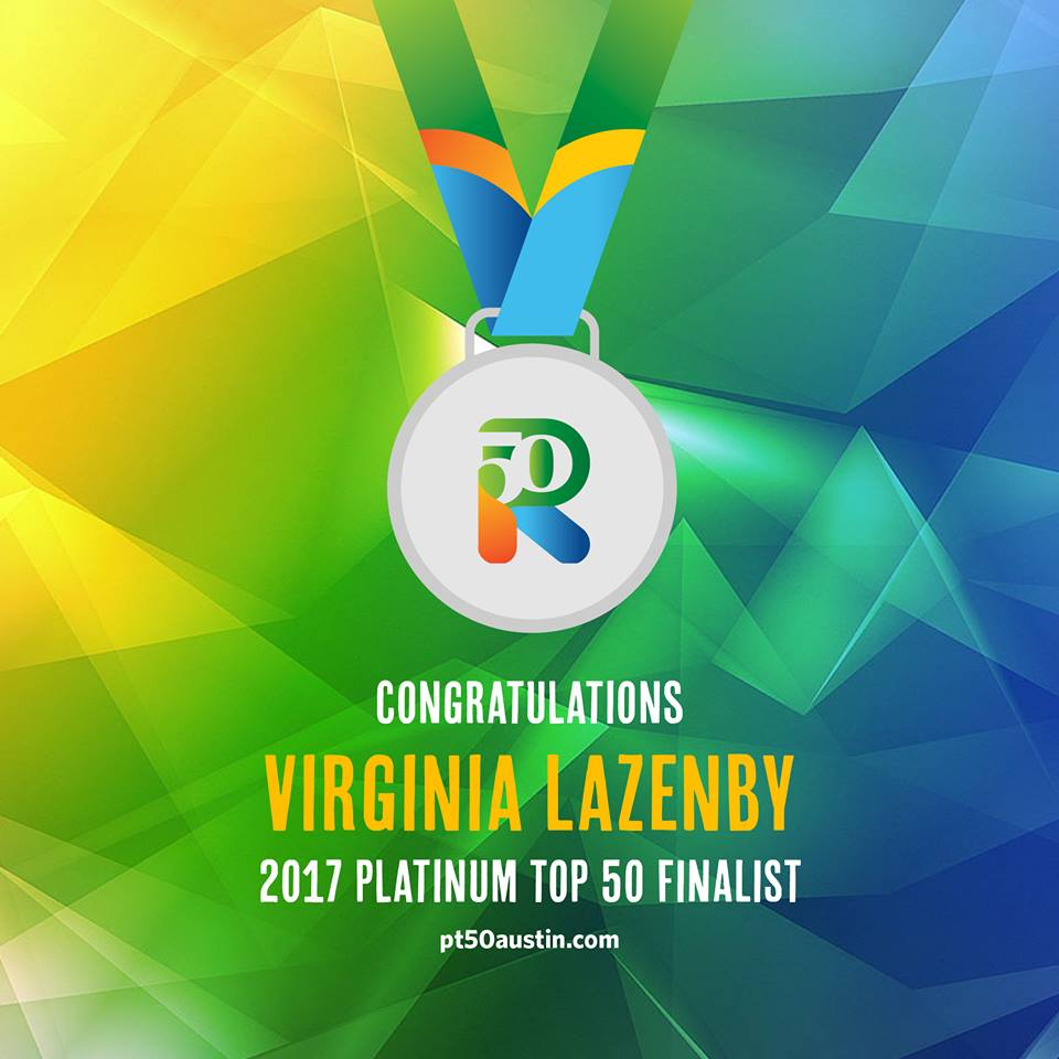Virginia Lazenby Platinum Top 50 Finalist 2017